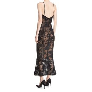 8f7ee940347 Marchesa Dresses | Notte Black Trumpet Lace Maxi Dress | Poshmark